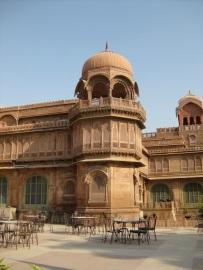 Side view Laxmi Niwas Palace, Bikaner, Rajasthan