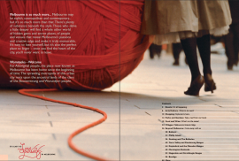 Destination Melbourne-Vic Tourism brochure - Contents page