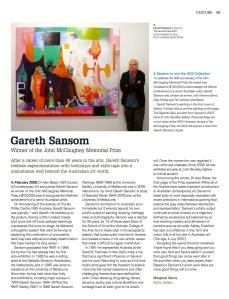 Garth Sansom, NGV Gallery