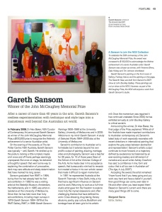 Garth Sansom, NGV Gallery