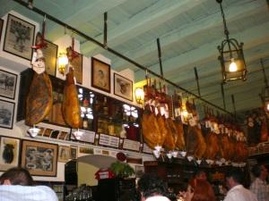 Jamon, bar in Seville, Spain