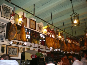 Jamon, bar in Seville, Spain