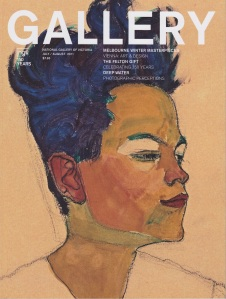 NGV Gallery magazine -Egon Schiele self portrait