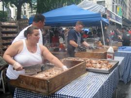 Pull pork, street barbecue, New York