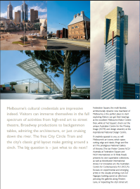 Sample - Destination Melbourne brochure