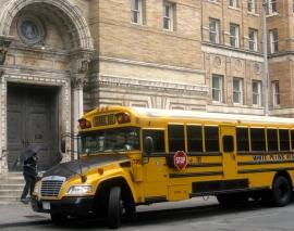 School bus, New York city JPG