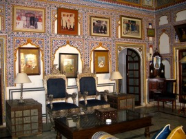 Sitting room, Castle Mandawa