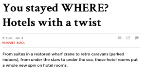 The New Daily Hotels with a twist