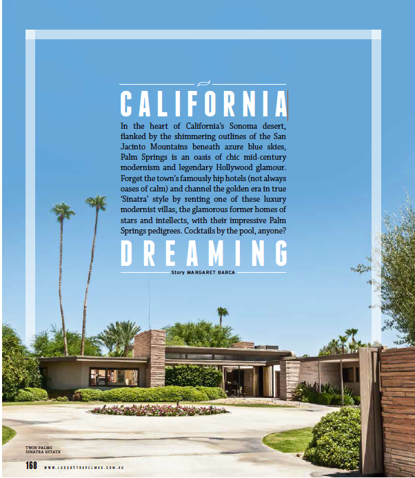 Palm Springs Luxury Travelmagazine