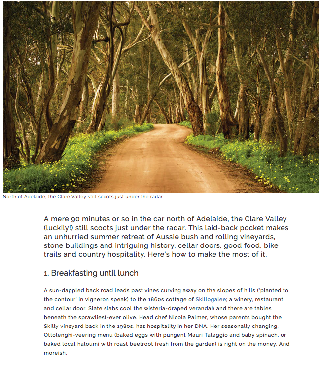 CLARE VALLEY, winery, good, Australian Traveller magazine, margaret barca