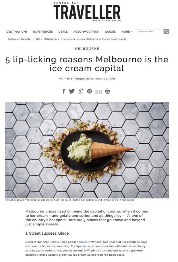ice cream, gelato, cool, Australian Traveller magazine