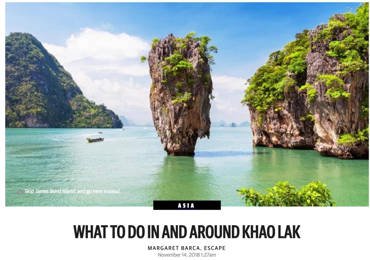 Khao Lak thailand ESCAPE Margaret Barca